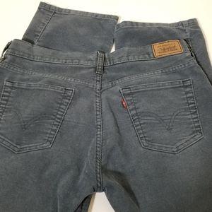Vintage Levis 505 Gray Corduroy Cord Pants  10M